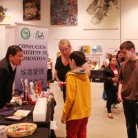 Dr. Wei Li, Director of CIE, at Heritage Day of Strathcona County