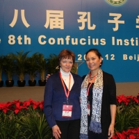 Diana Bolan and Mianmian Xie at the 8th Confucius Institute Conference
