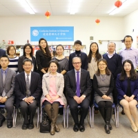 Consul General Lu Xu Visited CIE, November 24, 2017