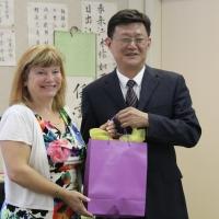 Deputy Minister Zhang Shijun and Trustee Michelle Draper, Chair of EPSB Board
