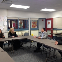 The Delegation from Coquitlam School Board Visited Meadowlark School on Nov 18, 2014