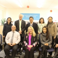 The Delegation from Coquitlam School Board Visited CIE on Nov 17, 2014
