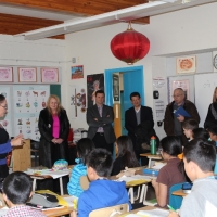 The Delegation from Coquitlam School Board Visited Ottewell School on Nov 18, 2014