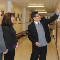 The Delegation from Walter and Gladys Hill Public School in Fort McMurray visited CIE