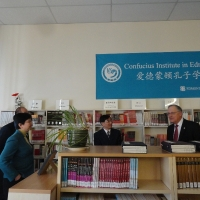 The Delegation from Consulate-General of China in Vancouver Visited the CIE Library